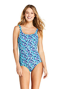 bfea8f294d47f Women's Mastectomy Tugless One Piece Swimsuit Soft Cup Print