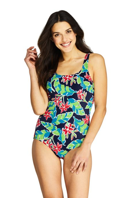 Women's Tugless One Piece Swimsuit Soft Cup Print