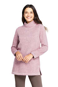 Women's Petite Sweater Fleece Tunic Pullover Top