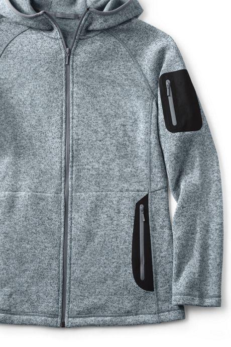 Women's Plus Size Active Sweater Fleece Hooded Jacket