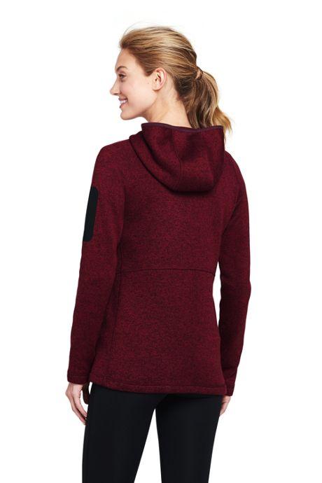 Women's Active Sweater Fleece Hooded Jacket