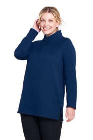 Women's Plus Size Active Fleece Pullover Tunic