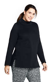 Women's Plus Size Sweater Fleece Tunic Pullover Top