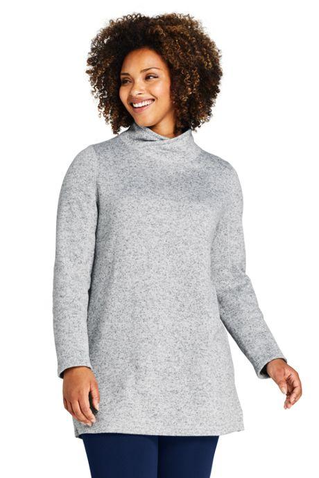 Women's Plus Size Sweater Fleece Tunic Pullover Top