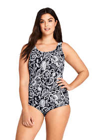 Women's Plus Size DDD-Cup Tugless One Piece Swimsuit Soft Cup Print