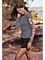 T-Shirt Protection Solaire à Motifs Manches Longues, Femme Stature Standard