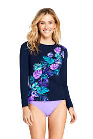 Women's Long Long Sleeve Swim Tee Rash Guard Print