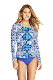 Women's Long Sleeve Swim Tee Rash Guard Print