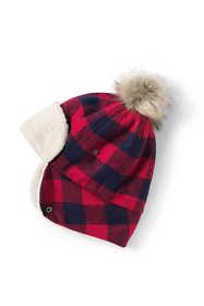 Women's Buffalo Check Trapper Hat