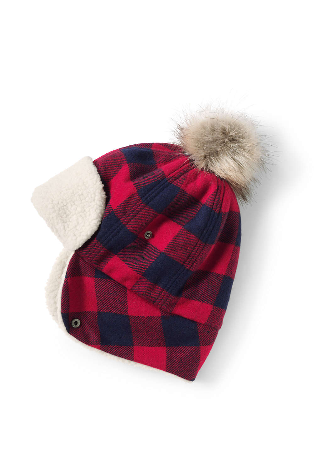Women s Buffalo Check Trapper Hat from Lands  End 599835863a70