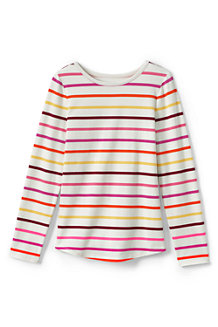 Girls' Long Sleeve Patterned T-shirt