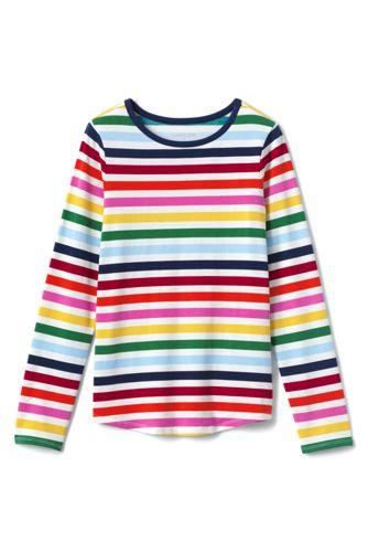 Gemustertes Langarm Jersey-Shirt für große Mädchen