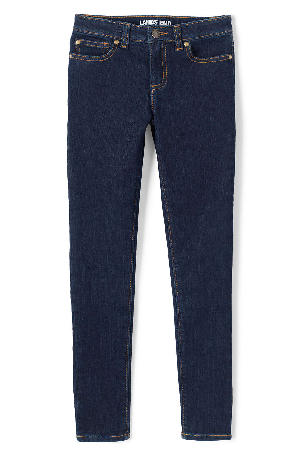 6cbcfcfd8f5a1 Girls Iron Knee Skinny Jeans from Lands' End