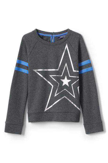 Girls Plus Size Graphic Sweatshirt
