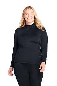 Women's Plus Size Base Layer Long Underwear Thermaskin Heat Half Zip