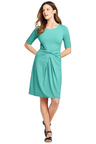 La Robe Stretch Drapé Twisté, Femme Stature Standard