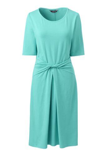 Women's Jersey Dress With Twist Front