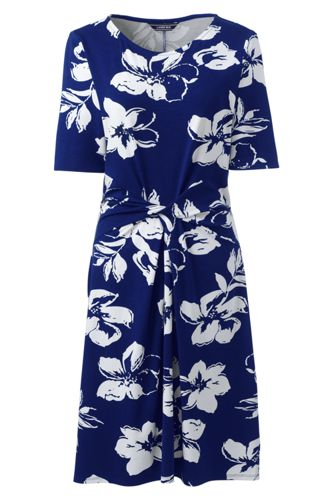 Women's Print Jersey Dress With Twist Front