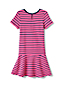 Girls' French Terry Drop Waist Patterned Dress