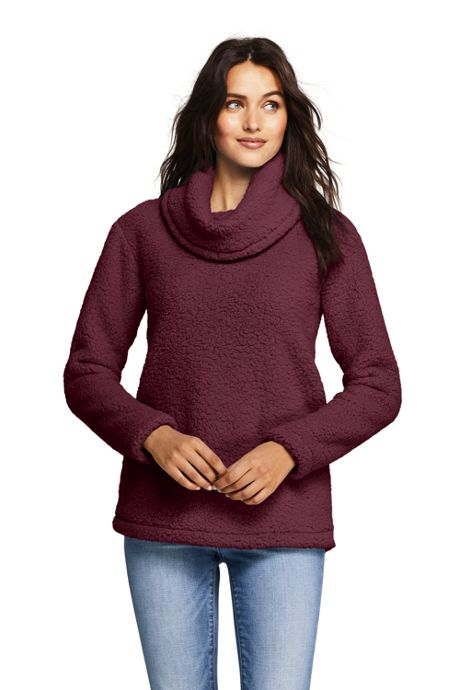 Women's Petite Cozy Sherpa Fleece Pullover