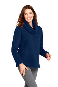 Women's Petite Cozy Sherpa Fleece Pullover Top