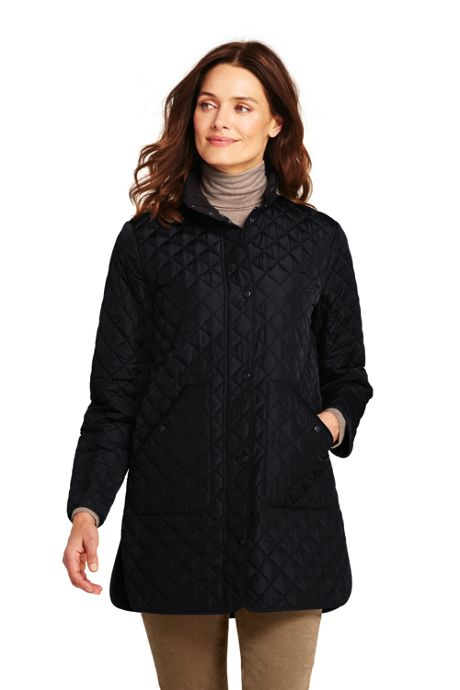 Women's Petite Quilted Barn Insulated Coat