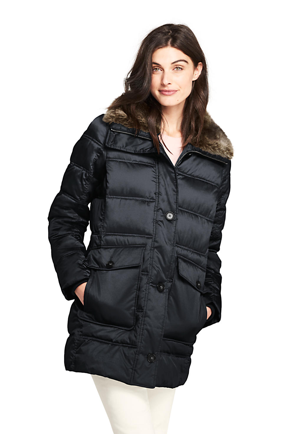 Lands End Women's Insulated Winter Puffer Parka (various colors/sizes)