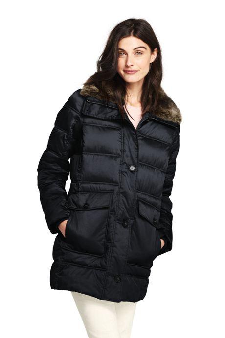 Women's Tall Insulated Winter Puffer Parka