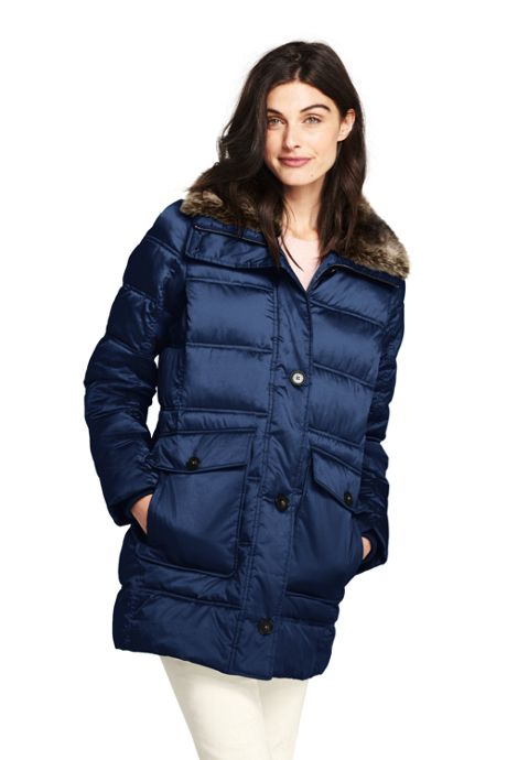 Women's Petite Insulated Winter Puffer Parka