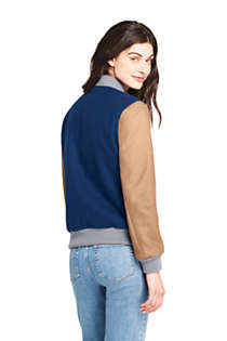 Women's Varsity Wool Jacket, Back