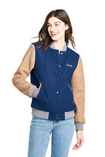 Women's Varsity Wool Jacket, Front
