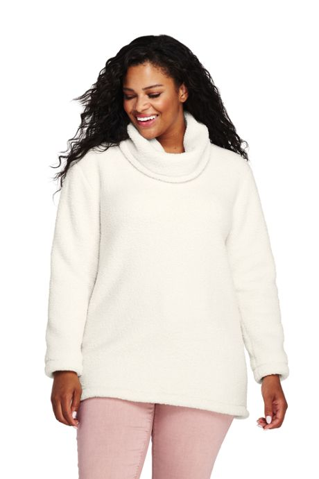 Women's Plus Size Cozy Sherpa Fleece Pullover Top