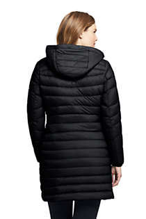 Women's Ultralight Packable Long Down Coat, Back