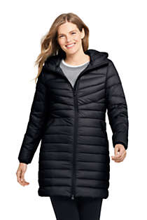 Women's Ultralight Packable Long Down Coat, Front