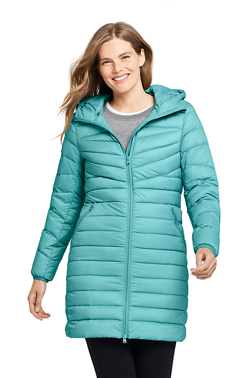 Lands End Womens Ultralight Packable Long Down Coat (various colors/sizes)
