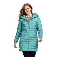 Lands End Womens Ultralight Packable Long Down Coat