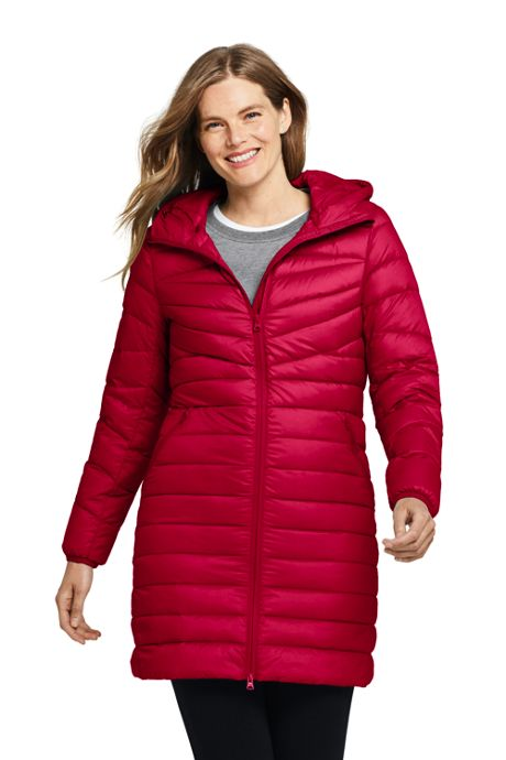 Women's Ultralight Packable Long Down Coat