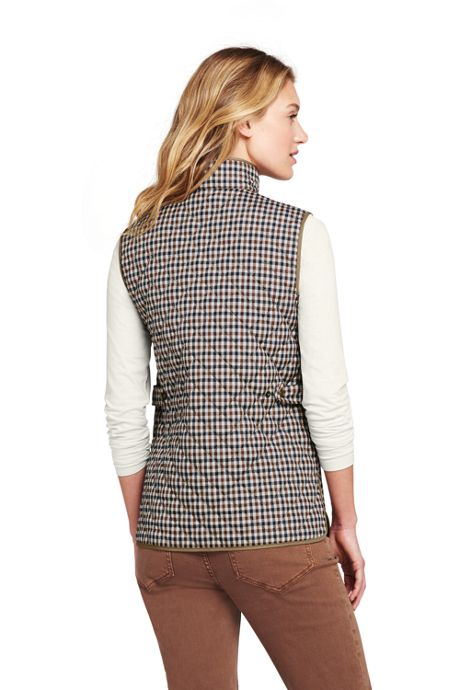 Women's Petite Pattern Quilted Barn Insulated Vest