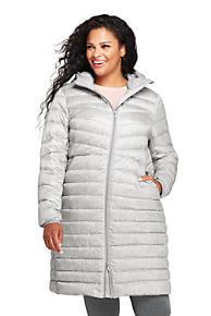 d145129d9db Women s Plus Size Ultralight Packable Long Down Coat
