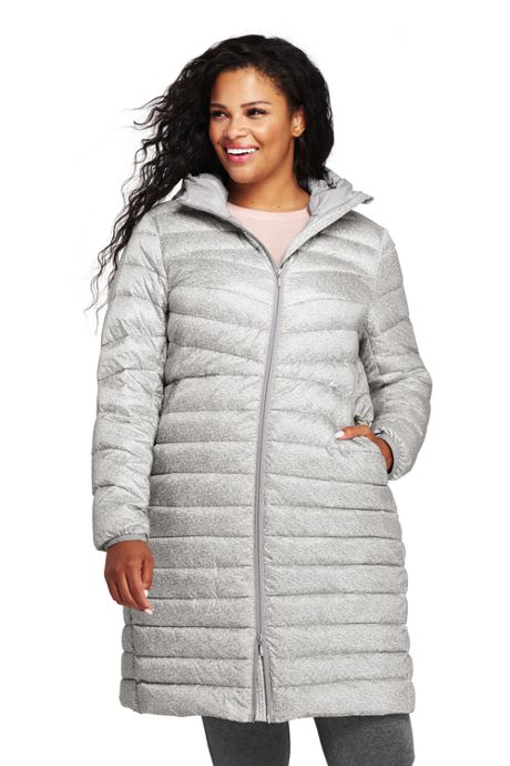 81a0f6ab3fcf Women s Plus Size Ultralight Packable Long Down Coat