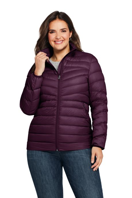 Women's Plus Size Ultralight Packable Down Jacket