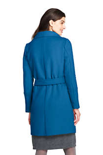 Women's Belted Long Wool Coat, Back