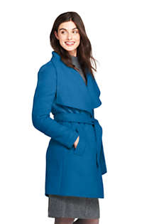 Women's Belted Long Wool Coat, alternative image