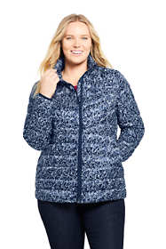 Women's Plus Size Print Ultralight Packable Down Jacket