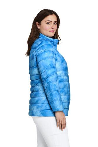 Women's Plus Size Print Ultralight Packable Down Jacket