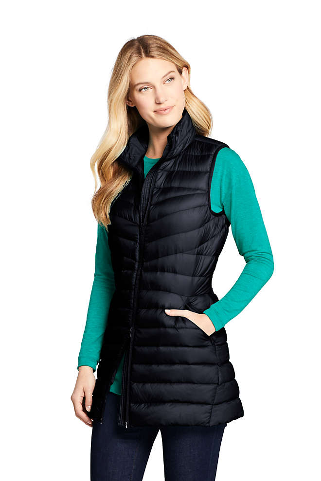 Women's Petite Ultralight Packable Down Vest, Front