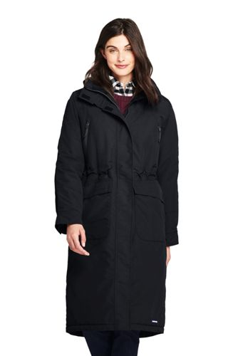 Women's Squall Insulated Long Stadium Coat by Lands' End