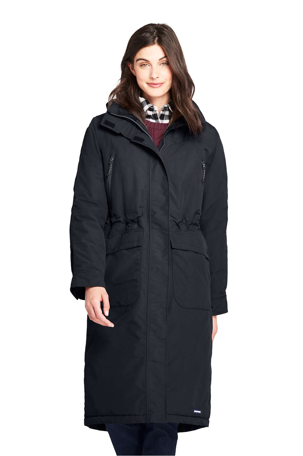 b0585c9973 Women s Squall Insulated Long Stadium Coat from Lands  End