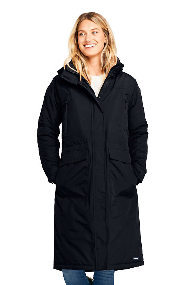 Women's Squall Insulated Long Stadium Coat, Front