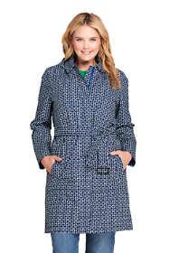 Women's Plus Size Hooded Waterproof Long Rain Coat